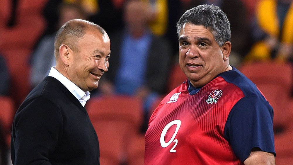 Eddie Jones and Glen Ella remain in the sights on Wallabies coach Michael Cheika. (AAP)