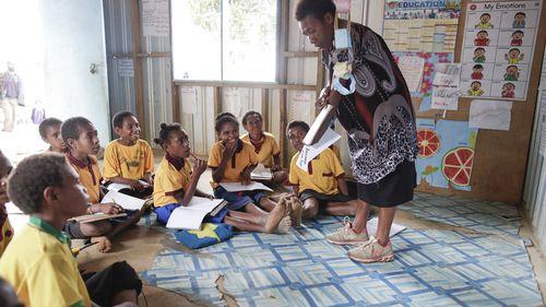 School children in Kainantu, Papua New Guinea in 2019.