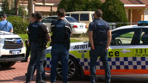 A father has been shot by police in a Perth suburb after an altercation with officers.