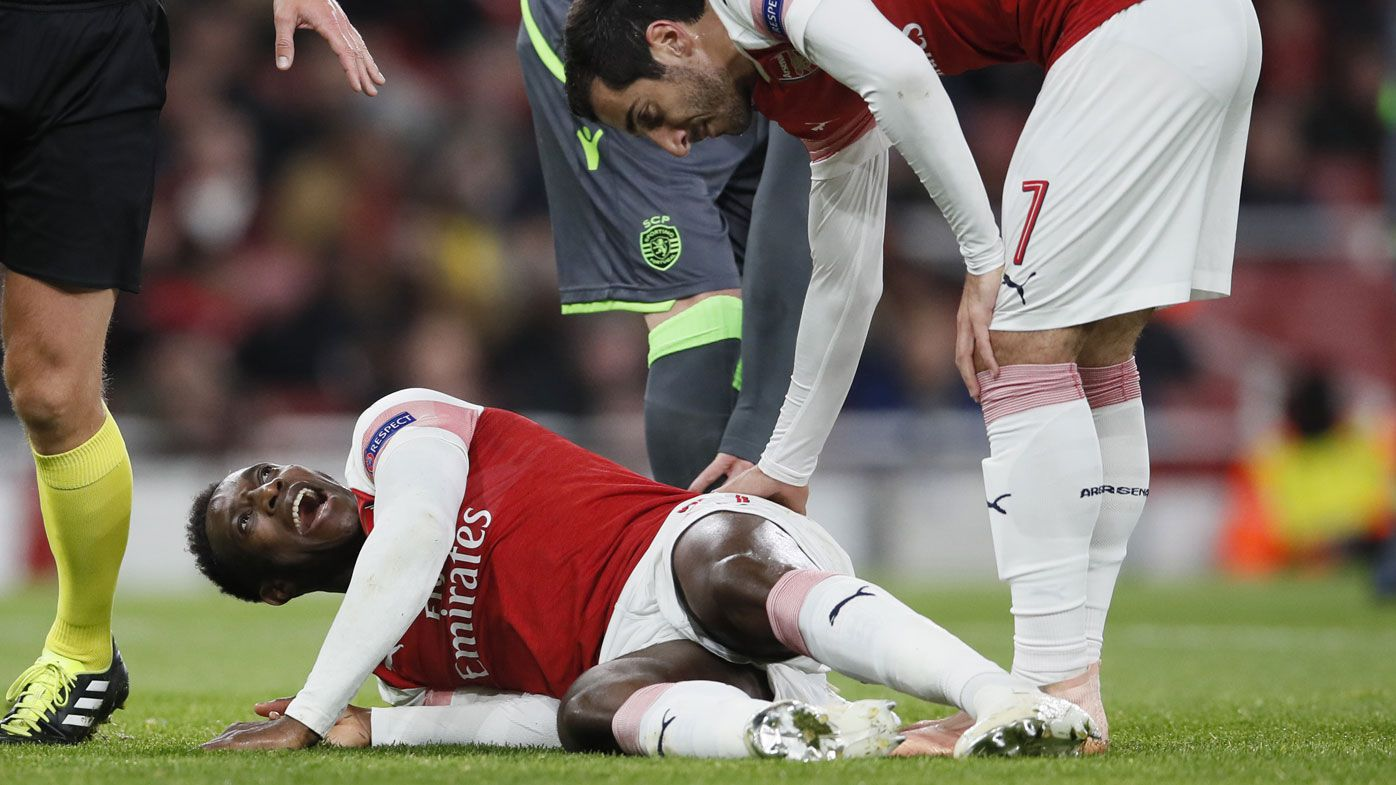 Arsenal star Danny Welbeck suffers 'serious injury' in Europa clash with Sporting