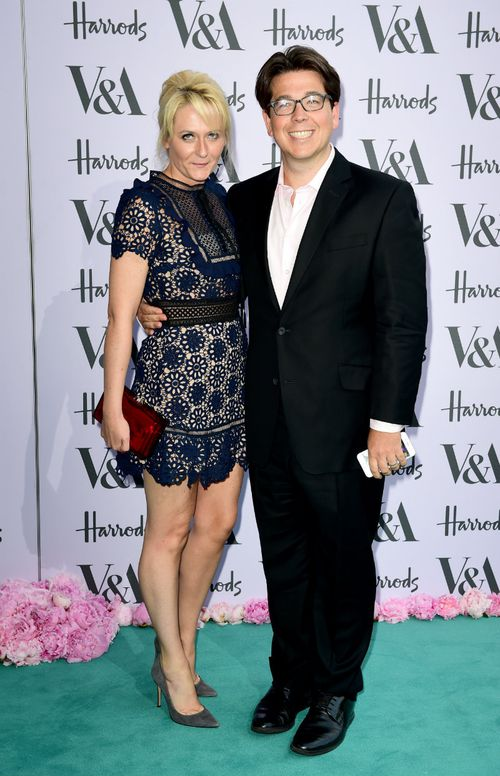 Michael McIntyre with wife, Kitty. (AAP)