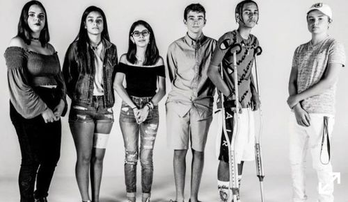 From left, Parkland students Samantha Fuentes, Ashley Baez, Isabel Chequer, William Olson, Anthony Borges, and Alexander Dworet in a photograph taken by Michael Avedon for New York Magazine.