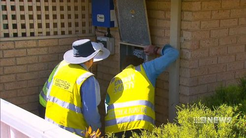 The 11-year-old was shocked after she touched a garden tap. (9NEWS)