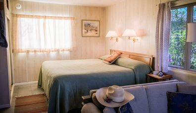 One of the cabins at dude ranch, Elkhorn Ranch in Arizona