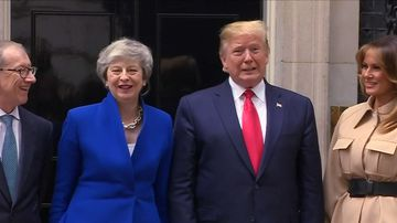U.S. President Donald Trump meets British PM