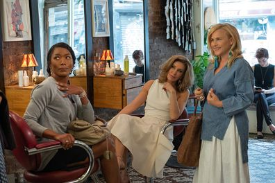 Huffman, Angela Bassett and Patricia Arquette star in the upcoming Netflix movie 'Otherhood'.