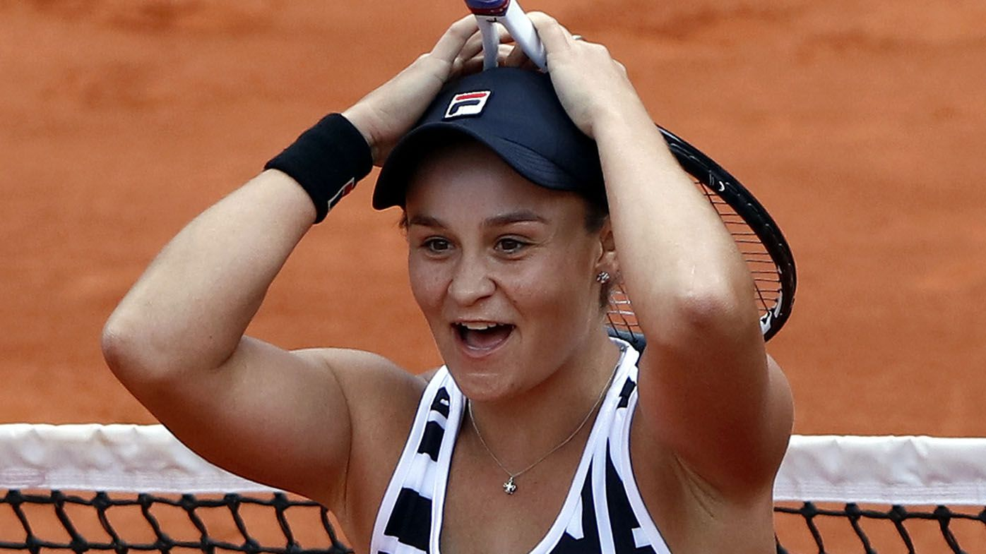 Ash Barty powers to straight-sets victory in first clay-court match since claiming 2019 Roland Garros title