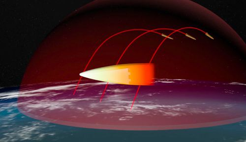 The Avangard is designed to unleash a payload of weapons from the outer atmosphere. (AP).
