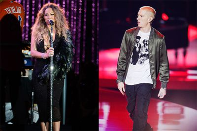 """Never has a relationship been more hashed out in song than in the case of Mariah Carey and Eminem. The two were rumoured to be dating in 2001, but following a war of words and insults, all we can really tell about the fling is that it was fleeting.<br/><br/>Following Carey's release of 'Obsessed', which featured a Slim Shady lookalike in the video, Eminem dropped 'The Warning', which contained such lyrics as, """"Enough dirt on you to murder you, this is what the f*** I do Mariah, it ever occur to you that I still have pictures?""""<br/>"""