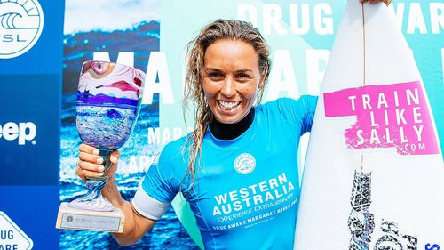 Australian surfer Sally Fitzgibbons badly cuts foot in Bells Beach heat