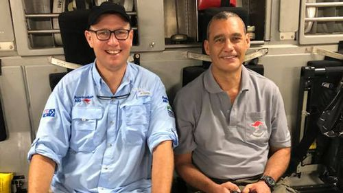 Doctor Richard Harris and former vet Craig Challen will be rewarded by Prime Minister Malcolm Turnbull for their role in the Thai cave rescue. Picture: Supplied.