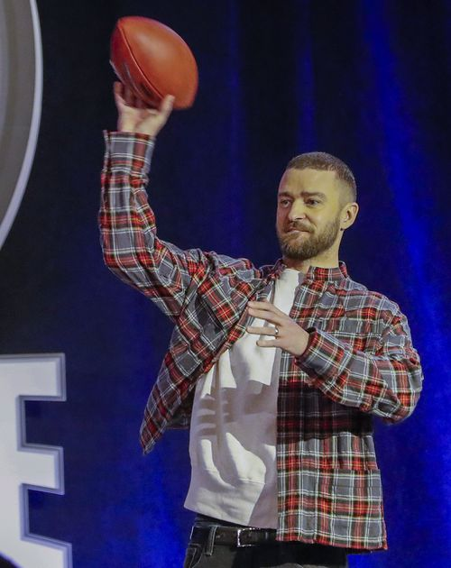 Justin Timberlake is performing at half time. (AAP)