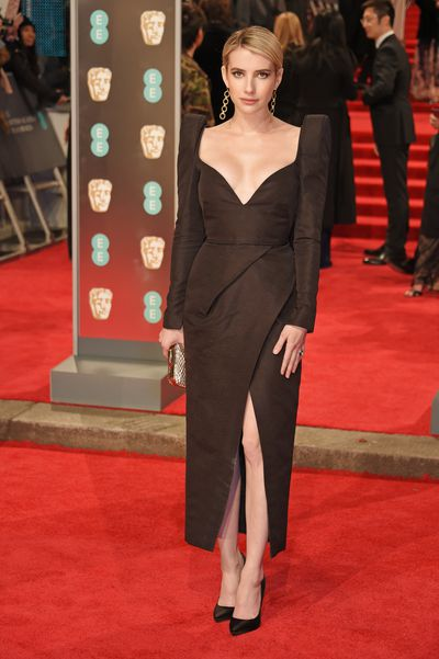Emma Roberts in Schiaparelli at the British Academy Film Awards (BAFTAs)