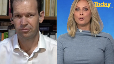 Matt Canavan and Sylvia Jeffreys on Today' 'newschat'.