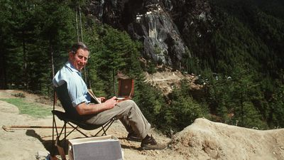 Prince Charles, sketching and painting