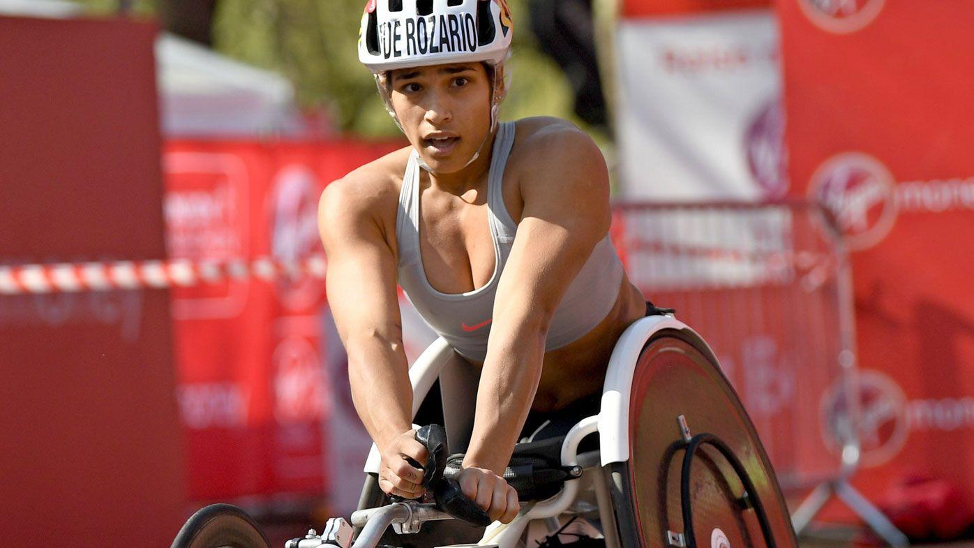 Australian women's wheelchair champion Madison de Rozario wins London Marathon