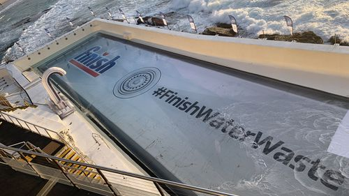 Bondi Beach Icebergs swimming pool emptied drought relief Australia