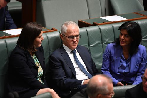 Julia Banks (right) won't contest her seat at the next federal election as a result of the Liberal Party dumping Malcolm Turnbull as leader