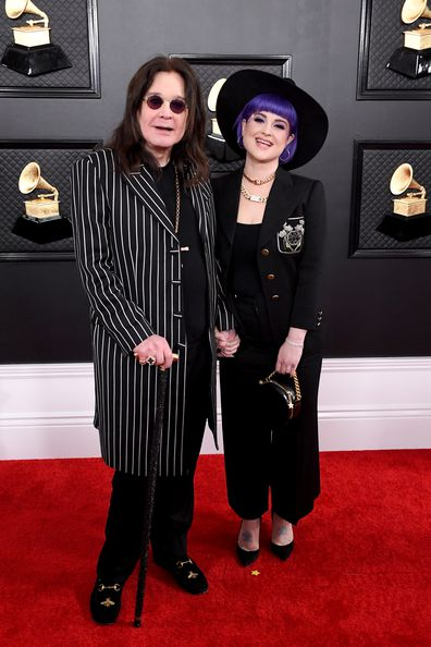 Ozzy Osbourne and Kelly Osbourne attend the 62nd Annual Grammy Awards at Staples Center on January 26, 2020 in Los Angeles, California