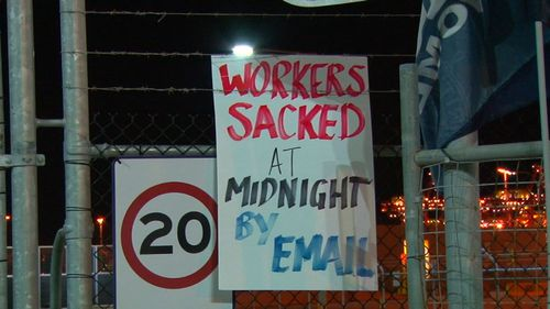 The protest was, in part, over the way the sackings were reportedly handled. (9NEWS)