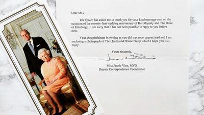 Queen Elizabeth's thank-you note to fan, February 2019