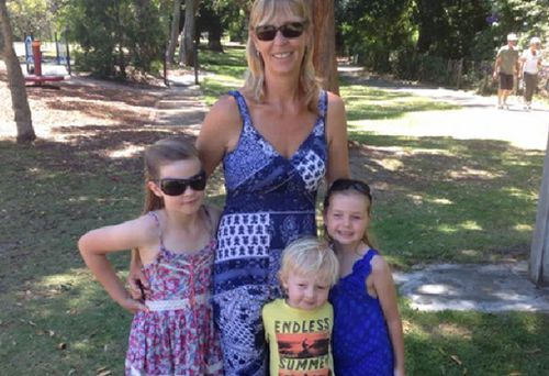 Stephanie King, her daughter Ella-Jane and son Jacob died in the crash, while Chloe (left) survived. (Supplied)