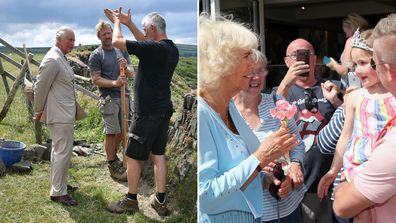 Prince Charles and Camilla in Cornwall