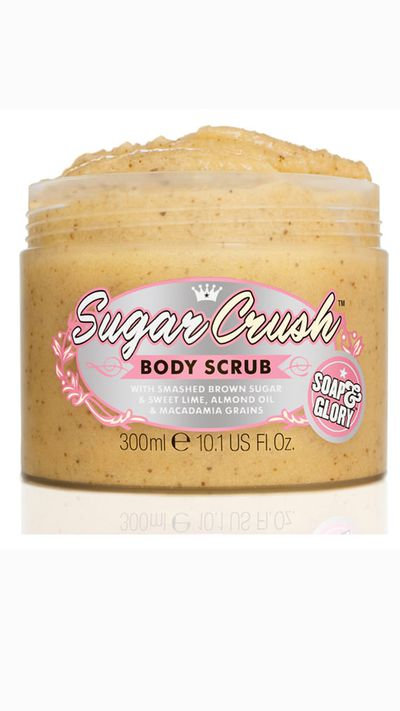 "<a href=""http://mecca.com.au/soap-glory/sugar-crush-body-scrub/I-016166.html#q=sugar&start=1"" target=""_blank"">Sugar Crush Body Scrub, $16, Soap & Glory </a><br /><p>This ingredients list reads more like a dessert than a beauty product – smashed brown sugar, sweet lime, almond oil and macadamia. We'll take two.</p>"
