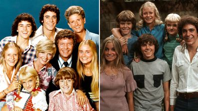 The Brady Bunch cast, now and then, 50th anniversary, Christopher Knight, Barry Williams, Eve Plumb, Maureen McCormick, Susan Olsen and Mike Lookinland.