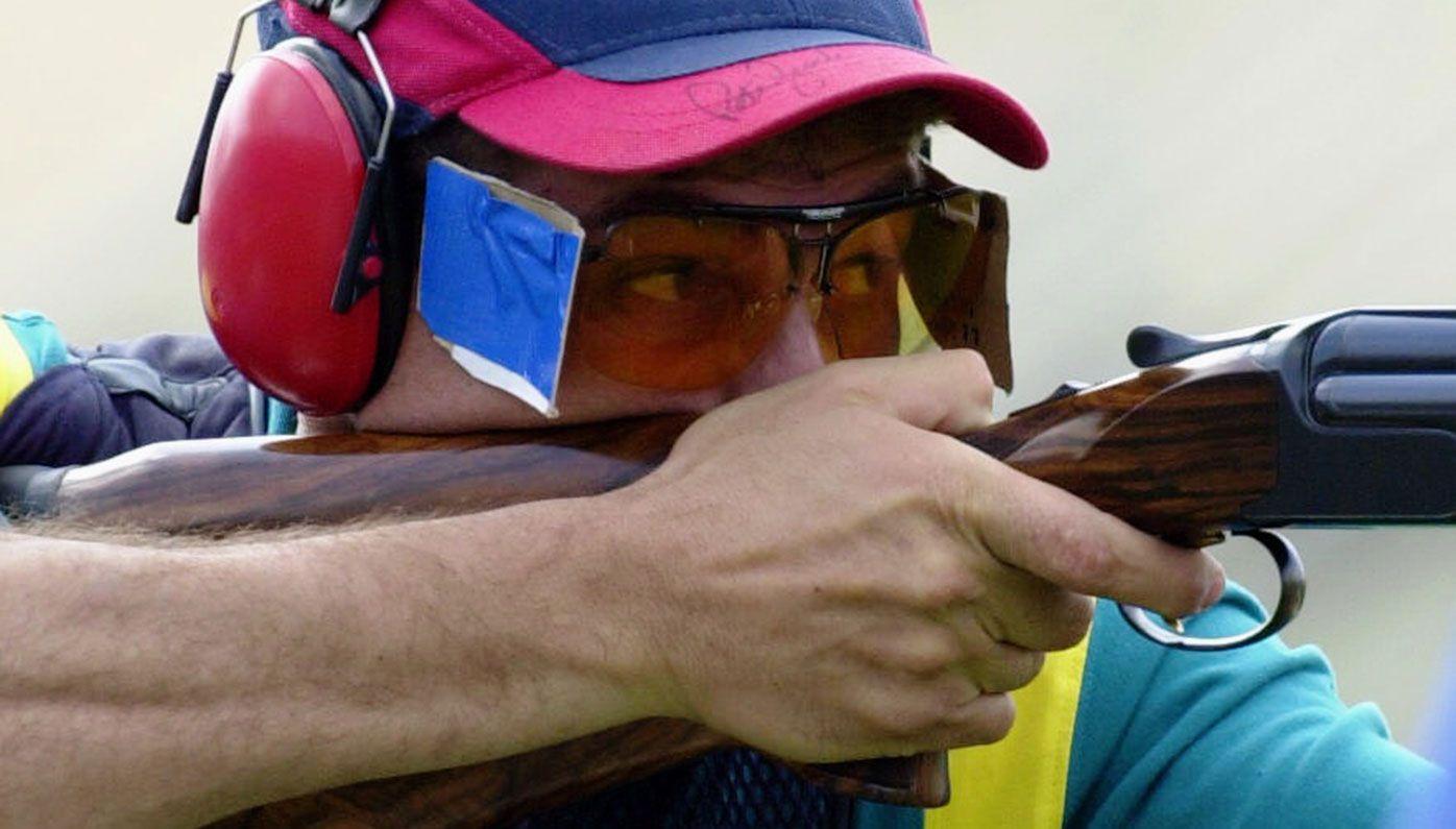 Michael Diamond competing at the Sydney Olympics.