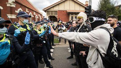 Melbourne anti lockdown protests