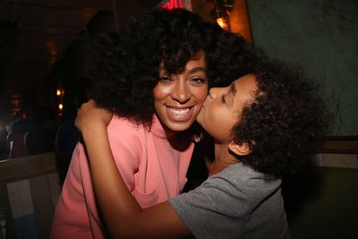 Solange married Daniel Smith in 2004 at the tender age of 17 and gave birth to their son Daniel Julez J Smith, Jr (pictured left, May 2014) . The pair divorced in 2007.<br/><br/>In October 2013, Solange quit Instagram because she didn't want her son or friends to be trolled. 'I'm completely, fully capable of handling negativity for myself,' she told blog Concrete Loop. '[But] to put that kind of access to negativity behind people who didn't even ask for it was really troubling me.'<br/><br/>Image: Getty