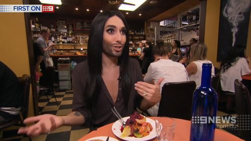 Conchita said her journey since Eurovision had been inspiring. (9NEWS)