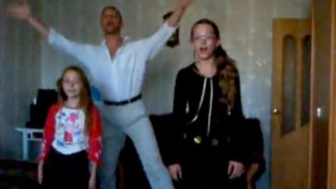 Dorky dad, Justin Bieber