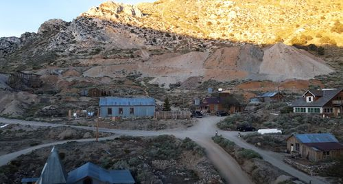 Mr Underwood has documented his first six months living full-time in the abandoned mining town of Cerro Gordo on YouTube.
