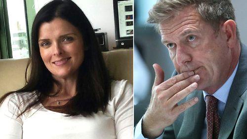 Amber Harrison and Tim Worner. (Supplied)
