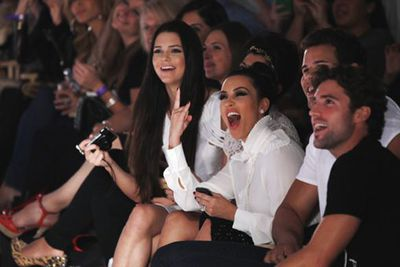 Kim tweeted this pic of herself at the Abbey Down by Avril Lavigne show at Fashion Week in New York. Her sister, Kylie Jenner, was walking in the show.