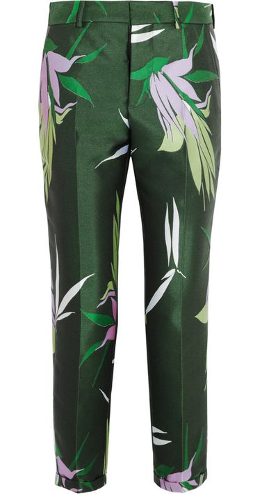 "<p><a href=""http://www.net-a-porter.com/product/497122/Marni/jacquard-tapered-pants"" target=""_blank"">Jacquard tapered pants, $555.58, Marni from net-a-porter.com</a></p>"