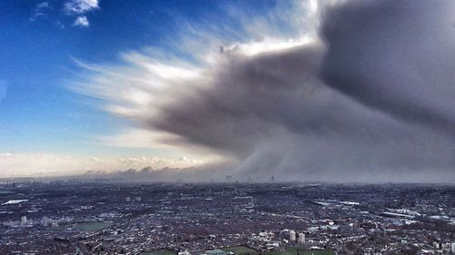The Arctic storm towers over London on Tuesday. (AP).