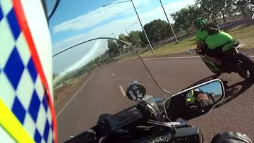 The rider reached speeds of 280km/h on a suburban Palmerston road while attempting to evade police.