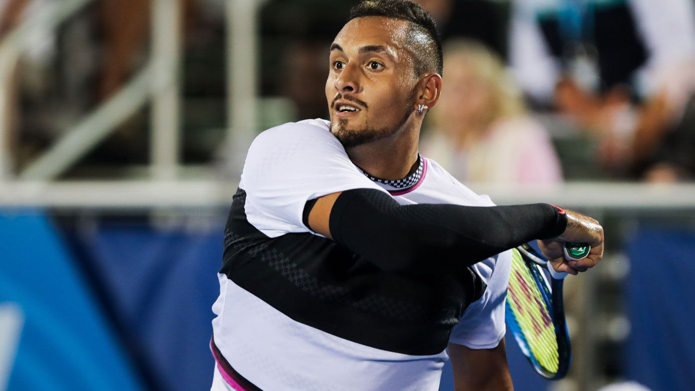 Tennis: Nick Kyrgios defeats fellow Aussie John Millman at Delray Beach Open