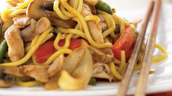 Stir fried chicken and vegetables