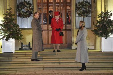 Prince Edward and Sophie, the Countess of Wessex also joined Her Majesty.