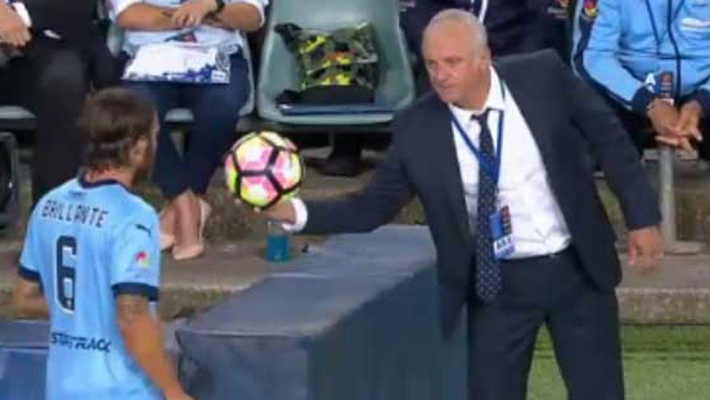 Sydney FC coach Graham Arnold instructed his players to get yellow cards