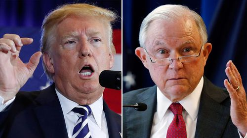 Trump said he is 'very disappointed' in his attorney general.