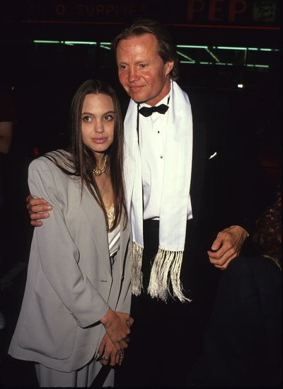 Angelina Jolie and father Jon Voight in 1980