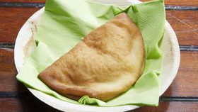 Family Food Fight: The Gibaldi family's ham cheese and tomato calzone