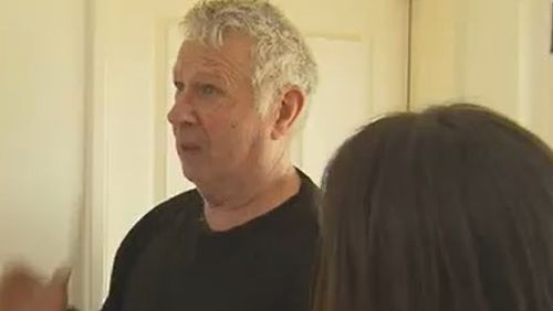 Mike Baker hit in the bathroom with his wife and family dog while the fierce storm battered parts of WA.