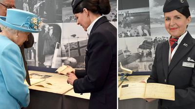 Queen Elizabeth visits Heathrow Airport, May 2019