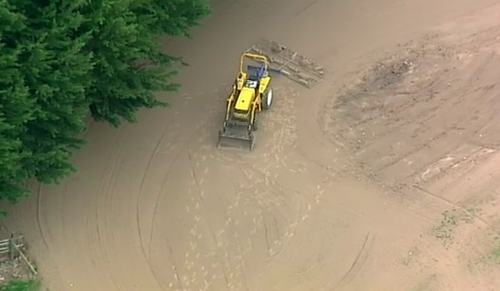 The toddler fell from the tractor this afternoon. (9NEWS)